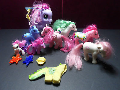 VINTAGE My Little Pony Lot G1 1983-84 and mixed years Baby Heart Throb clothing