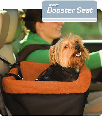 KURGO SKYBOX BOOSTER SEAT (CAR SEAT FOR DOGS) sturdy safe suede driving washable