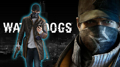 Watch Dogs - Aiden·Pearce 's Jacket PU Leather Coat Cosplay