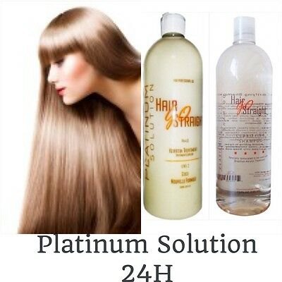 Lissage Brésilien Hair Go Straight Platinum Solution Kit 100 Ml + Gants