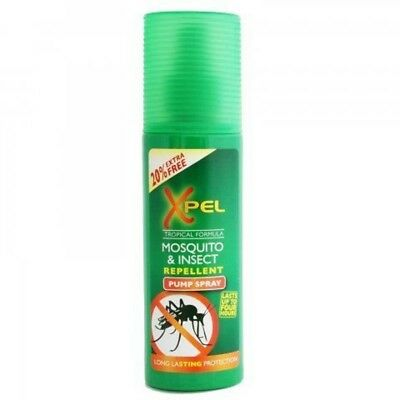 3X Xpel Mosquito & Insect Repellent Pump Spray 70ml (Lasts Up To 4 Hours)