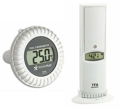 Weatherhub Poolsender Thermo-Hygrosender Tfa 30.3310.02 Temperature Air Humidity