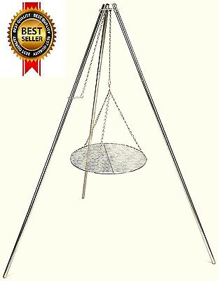 Portable Outdoor Tripod Cooking Hanger For Camp Grill Camping Cookware HeavyDuty