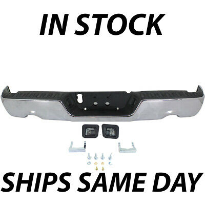 NEW Complete Steel Chrome Rear Step Bumper Assembly for 2009-2018 Dodge RAM 1500