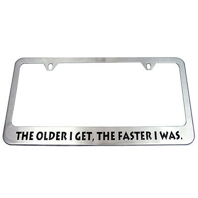Brushed License Plate Frame - Perfect for use with CerMark!