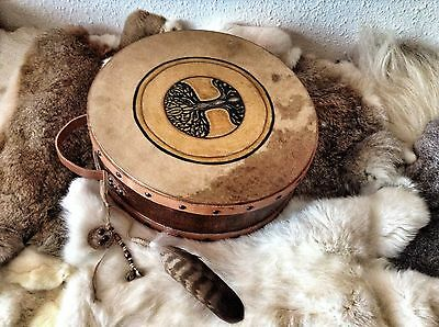 14' Double Headed Drum,  Horse hide, handcrafted