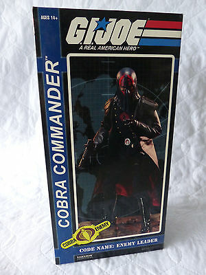 "Sideshow GI Joe Cobra Commander  1:6 - 12"" Figure NOS"