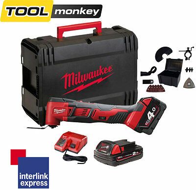 Milwaukee M18BMT-421C M18 18v Multi Tool FIXTEC Full Kit In Case 1x2.0ah 1x4.0ah