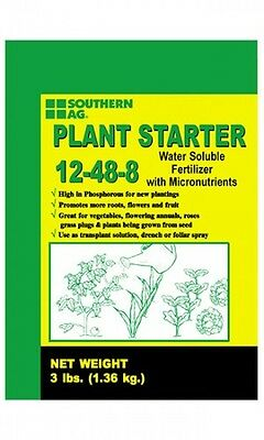 Plant Starter 12-48-8 Soluble Fertilizer with Micronutrients 3lb Bag Southern Ag