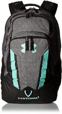 "Under Armour Storm Recruit Backpack Black Bookbag 15"" Laptop Compartment NEW"
