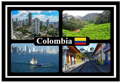 Colombia - Souvenir Novelty Fridge Magnet - Flags / Sights - Brand New / Gift