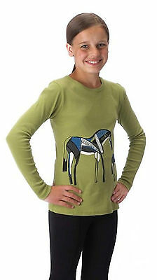 Kerrits Kids Painted Pony Tee Shirt-Fern-L