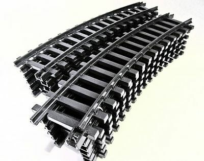 Dickie 12 bent Plastic tracks, Full circle, G Scale Garden railway