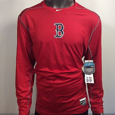 Boston Red Sox Nike Pro Combat Dri-Fit Hypercool Max Fitted 2XL Base Layer  Shirt