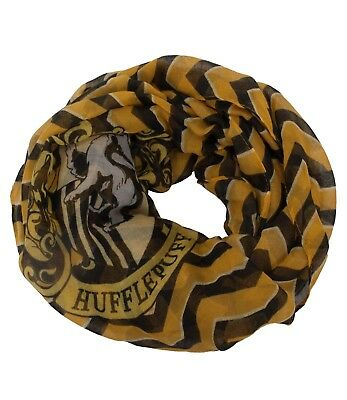 Harry Potter Hufflepuff House Hogwarts Lightweight Infinity Scarf Stripes
