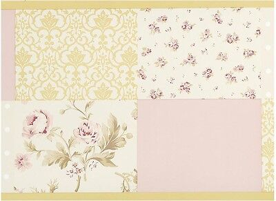 Kidsline Sweet Lullaby Wallpaper Border French Floral Toile Shabby Chic Roses