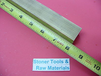 """1-1/4"""" x 1-1/4"""" C360 BRASS SQUARE BAR 8"""" long Solid 1.25"""" Flat Mill Stock H02"""