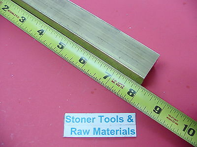 "1-1/4"" x 1-1/4"" C360 BRASS SQUARE BAR 8"" long Solid 1.25"" Flat Mill Stock H02"