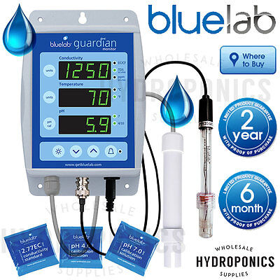 Bluelab Guardian Monitor - pH EC TDS PPM Continuous Read Meter - Blue Lab