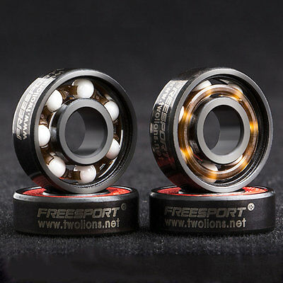 608RS Good Roller Skates Ceramic Ball Inline Skate Bearings Drift Plate BK