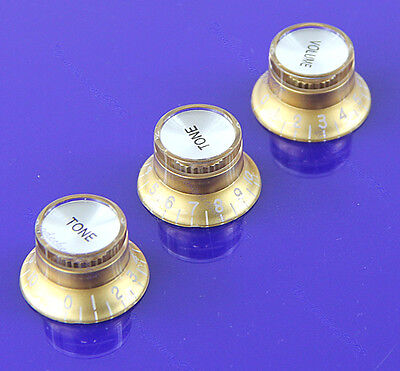 Gold 1 Volume&2 Tone Electric Guitar Control Knobs Top Hat F Fender Strat Guitar