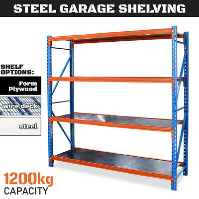 GARAGE SHELVING 2m Steel Longspan Storage Racking Long Span Shelves