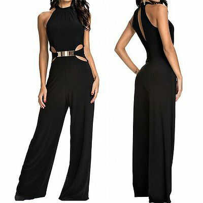 luxus damen hosenanzug overall catsuit anzug einteiler jumpsuit rompers elegant eur 21 59. Black Bedroom Furniture Sets. Home Design Ideas
