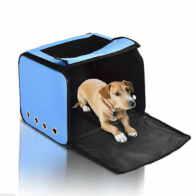 PawHut Foldable Dog Cat Car Bag Crate House Kennel Dog Carrier Mesh Waterproof