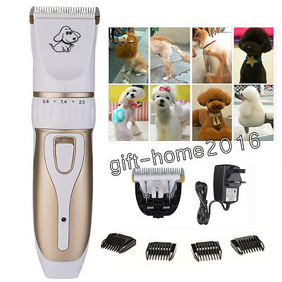 Pro Cordless Electric Pet Shaver Dog Cat Hair Grooming Trimmer Clipper Comb Kit