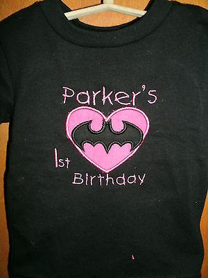 Personalized  Batman Heart Shirt ANY NAME & COLOR SCHEME