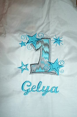 Personalized Stars Birthday Number Shirt ANY NAME, NUMBER & COLOR SCHEME