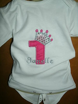 Princess Crown Personalized Birthday Number Shirt  NAME, NUMBER,  COLOR SCHEME
