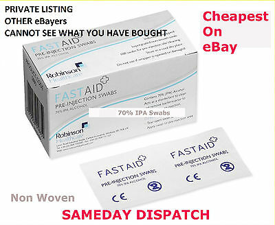 100 Fastaid Isopropyl Alcohol Wipes Pre-Injection Prep Swabs Multi Listing