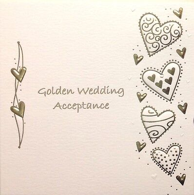 Golden Wedding Invitation Acceptance Card ~ Luxury Card ~ Special