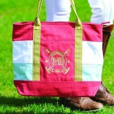 CLOSEOUT Horseware Ireland Newmarket Fifi Tote Bag Pink/Paste Retail $50