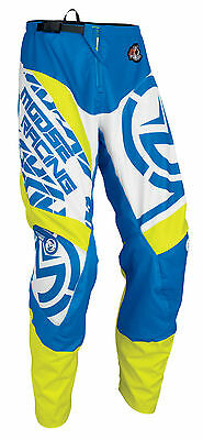 MOOSE Racing MX Motocross 2017 QUALIFIER Pants (Blue/Hi-Viz Yellow) Choose Size