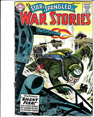 Star Spangled War Stories #72 (Aug 1958, DC) ** Hard to Find ** 10-cent cover**