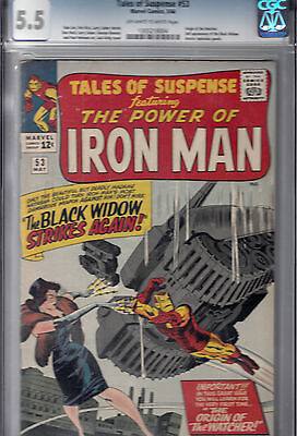 TALES OF SUSPENSE #53 (MAY 1964) CGC 5.5 Black Widow 2nd app/ WATCHER origin