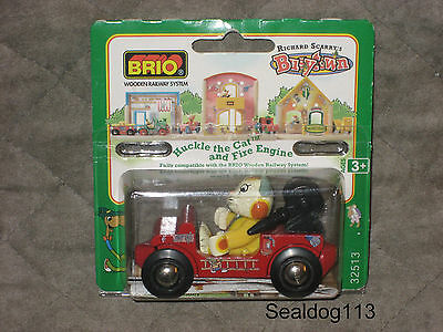 Brio Richard Scarry Busytown Huckle Cat and Fire Engine New In Box!