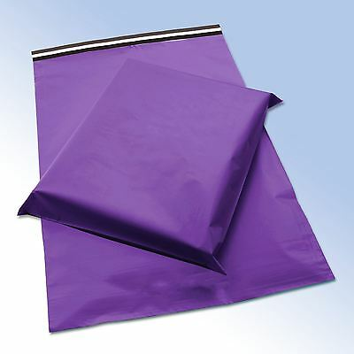 "STRONG PURPLE POSTAL PLASTIC POSTAGE POLY MAILING BAGS 12""x 16"" (300 x 400 mm)"