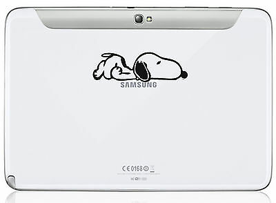 Snoopy Dog Decal - Vinyl Sticker for Tablet  iPad Mac Macbook Laptop Kindle X 2
