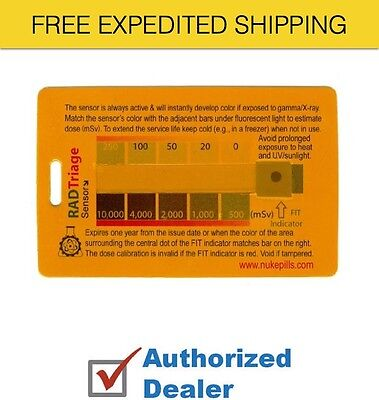 New RADtriage 50 Personal Radiation Detector for wallet or pocket, Free Shipping