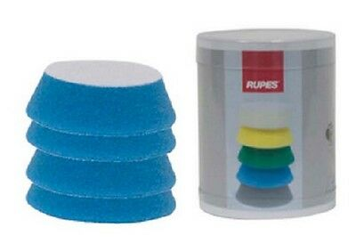 Rupes 9.BF70H Pad de Lustrage Auto-Agrippant 54/70 MM - Bleu Coarse - lot de 4