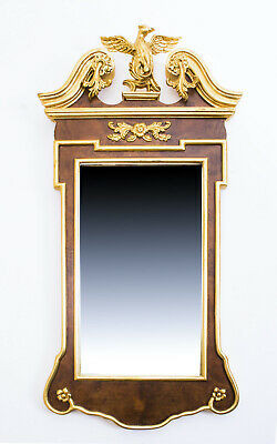 Elegant Georgian Style Carved Giltwood Mirror 82 x 39 cm