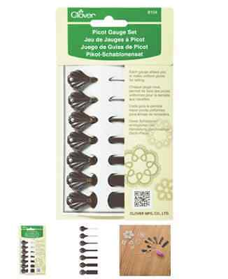 NEW Clover Picot Gauge for Tatting Lace | Set of 7 sizes | FREE DELIVERY