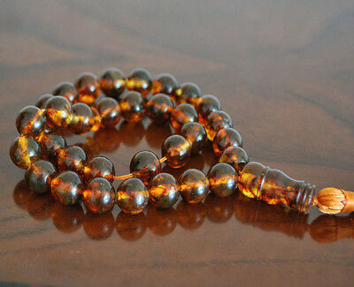 Baltic Amber 33 islamic prayer beads Misbaha Tasbih 33 g