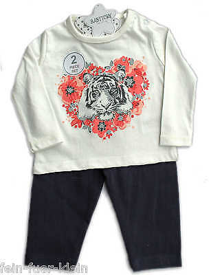 2 Tlg.Baby Kombination, Set, LA-Shirt Leggins,  Tigerbaby, Gr. 62, 68, 74