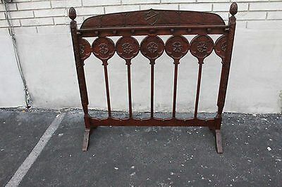 Spanish Revival Hand Crafted Cherry Fire Screen, 19th C.