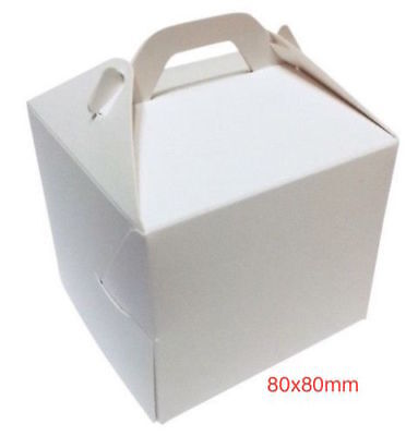 30 Single White Individual Cupcake Boxes ~ 80x80mm  with inserts ~ £5.23 inc del