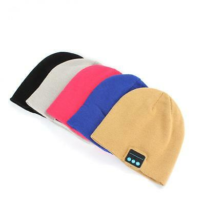 Outdoor Wireless Bluetooth Headphone Headset Beanie Hat with Stereo Speaker Mic